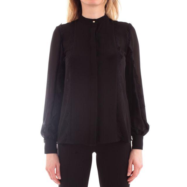 Fracomina Femme Fr19FM020BLACK Noir Polyester Chemise