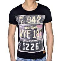 Stoneuk - En Solde - Stone Uk - T Shirt Manches Courtes - Homme - California 187 - Noir