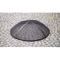 Farm - Mdlt - Brasero de jardin Solafa avec range bois en acier noir + pare-feu Ø: 60 cm