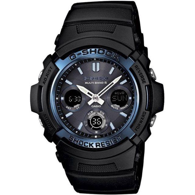 Montre Homme Casio Wave Ceptor WVA M640D 2AER à cadran bleu