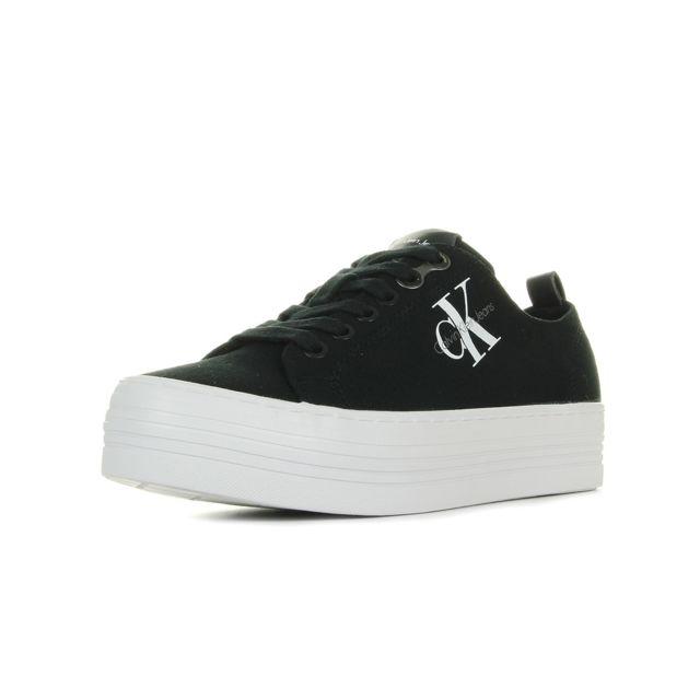 Calvin Klein - Zolah Canvas Noir Noir, Blanc - pas cher Achat ... 172b9cecc470