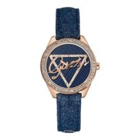 Montre guess femme bracelet cuir bleu