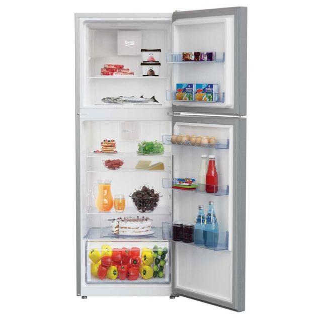 beko refrigerateur frigo double porte inox 321l a froid. Black Bedroom Furniture Sets. Home Design Ideas