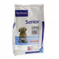 Virbac - Croquettes Hpm Senior Neutered Small & Toy pour chien Sac 3 kg