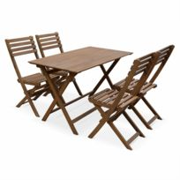 Table jardin pliante bois - catalogue 2019 - [RueDuCommerce - Carrefour]