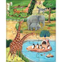 Haba - puzzles progressifs de 12, 15 et 18 pièces, les animaux - boite de 3