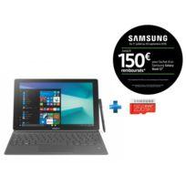 Samsung - Galaxy Book - 12'' - 128 Go - Argent + Carte micro SD 256 Go EVO PLUS classe 10 100Mo/s avec adaptateur SD