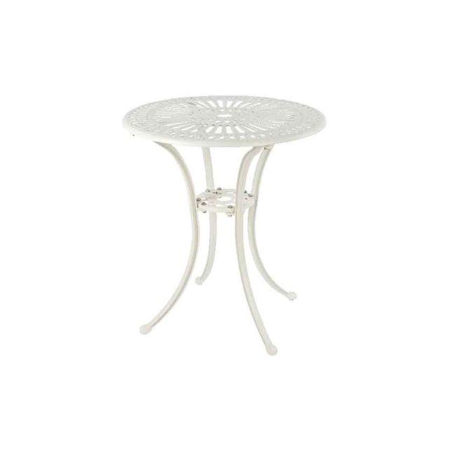 KAEMINGK Table de jardin bistro Saint-Tropez Blanc cassé