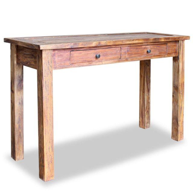 Inedit Consoles ensemble Dacca Table console Bois de récupération massif 123 x 42 x 75 cm