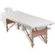 rocambolesk superbe table de massage pliante 4 zones cr me cadre en bois neuf nc pas cher. Black Bedroom Furniture Sets. Home Design Ideas