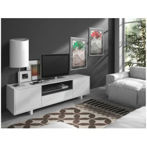 habitat et jardin meuble tv bexus 2 40 x 150 x 47 cm blanc bri pas cher achat vente. Black Bedroom Furniture Sets. Home Design Ideas