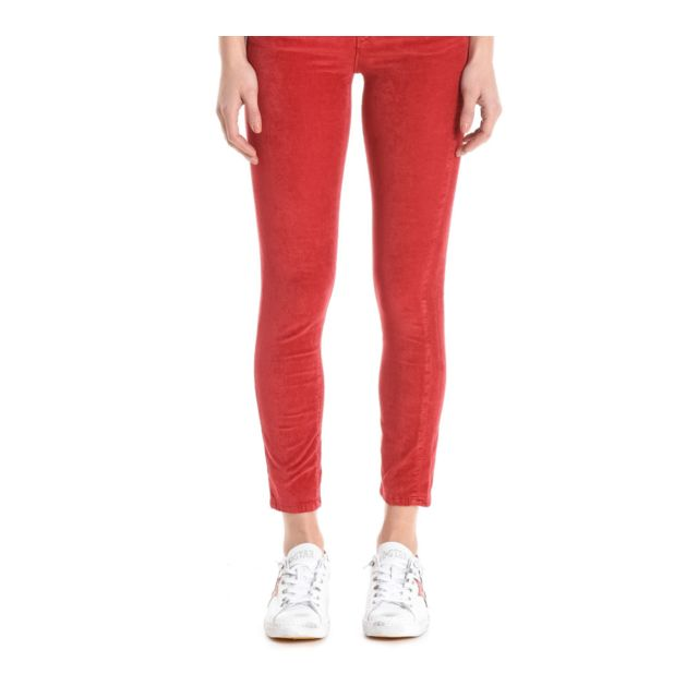 PINKO Femme 1J1098Y419R58 Rouge Coton Pantalon