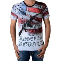 Celebry Tees - Tee Shirt Gun America Noir / Rouge