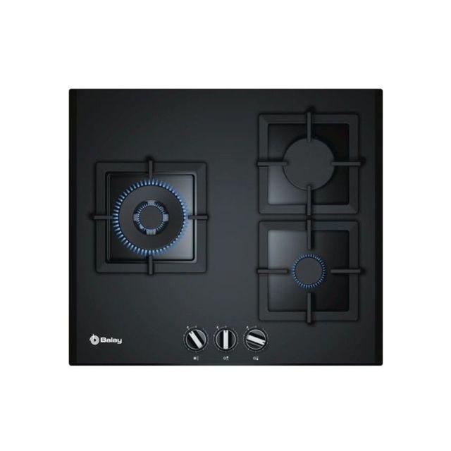 Balay Plaque au gaz 3ETG663HB 60 cm Noir Verre 3 cuisinière