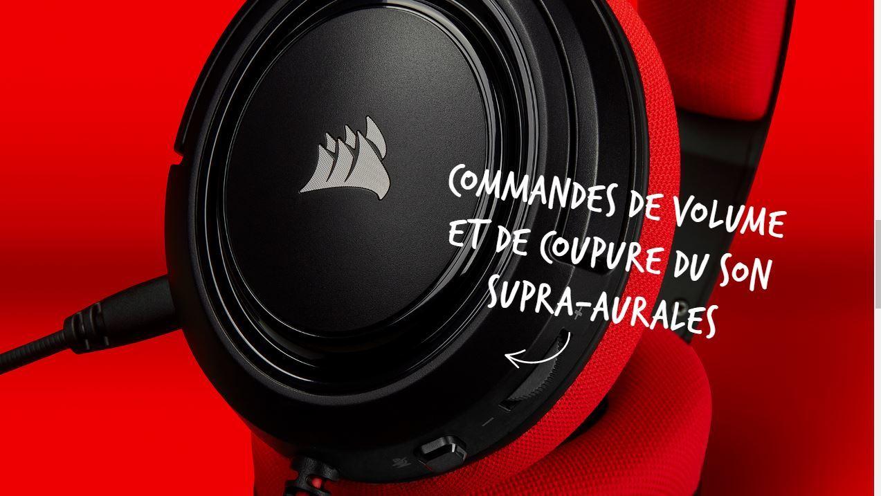 CORSAIR HS35 (Rouge)
