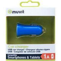 Adnauto - Adaptateur allume-cigare Design 1 Usb 1A bleu Muvit