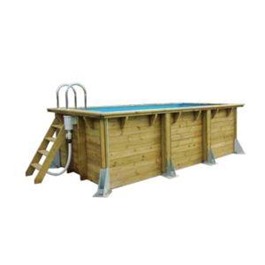 Ubbink piscine bois lin a urbanpool 4 50 x 2 50 x 1 40 m for Liner piscine 4 50 x 1 20