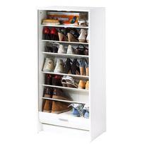Simmob - Meuble à Chaussures Blanc 21 Paires - Coloris - Tour Eiffel 750 751