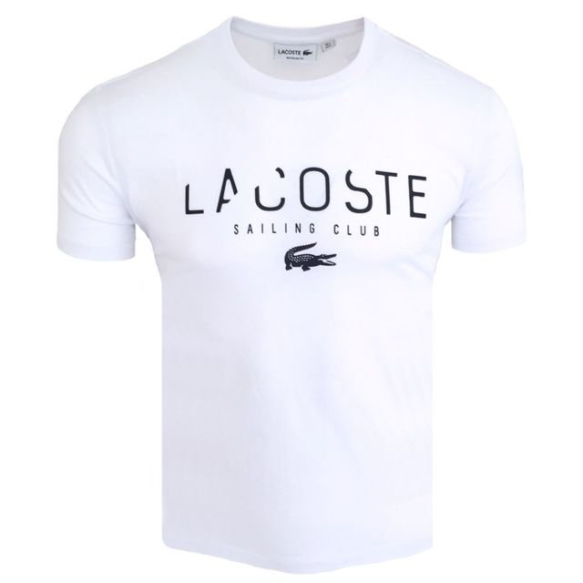 lacoste t shirt homme t shirt 5022 blanc pas cher. Black Bedroom Furniture Sets. Home Design Ideas