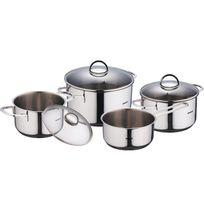 Bergner - Classic - Théières pour cuisinière Acier inoxydable Avec Couvercle 16X7.5CM 16X9.5CM 20X11.5CM 24X13.5CM Bon pour l'induction