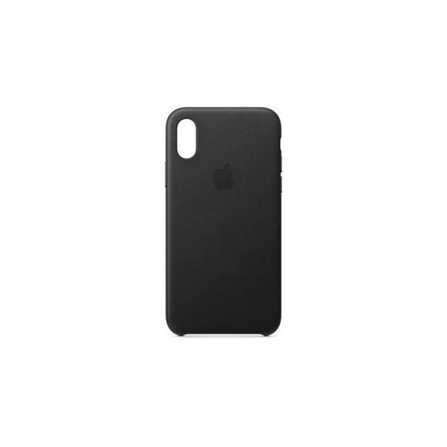 APPLE iPhone XS Leather Case - Noir Conçue par Apple comme complément idéal de votre iPhone Xs, la Coque en silicone épouse les courbes de votre appareil.