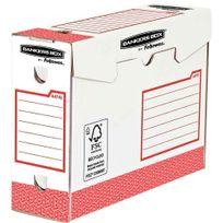 Bankers Box - 4474102 - boîte archive heavy duty - rouge - dos 10cm - rouge - paquet de 20