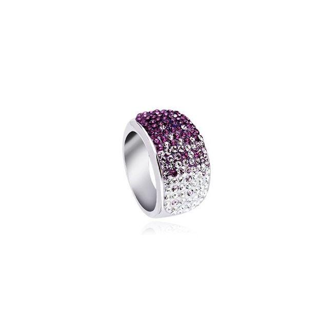 3e7735ae5a25a Yparah - Bague Lumineuse Violet en Cristal - pas cher Achat   Vente Bagues  - RueDuCommerce