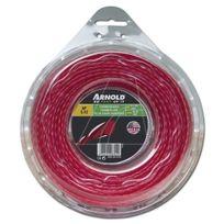 Arnold - Fil de coupe-bordure Af 3.12, 2.7 mm × 56.4 m, rouge, rond, torsadé - 1082-U5-2756