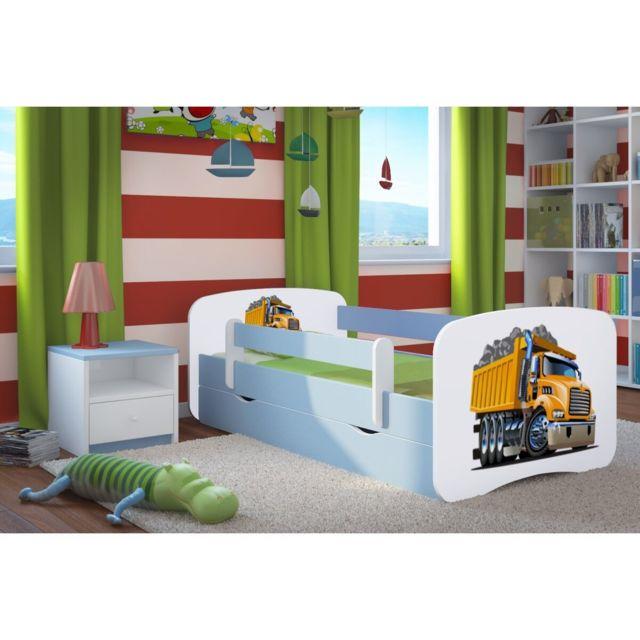 carellia lit enfant camion 70 cm x 140 cm avec. Black Bedroom Furniture Sets. Home Design Ideas