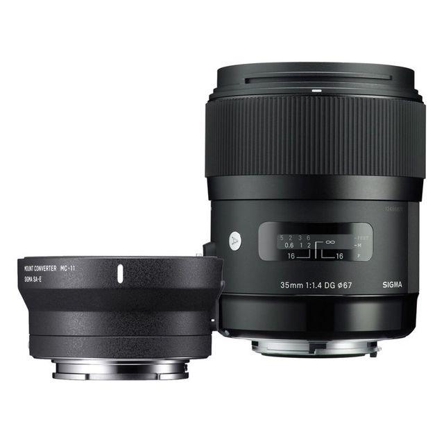 Sigma Objectif 35 mm f/1.4 Dg Hsm Art Canon + Bague Mc-11 Garanti 3 ans