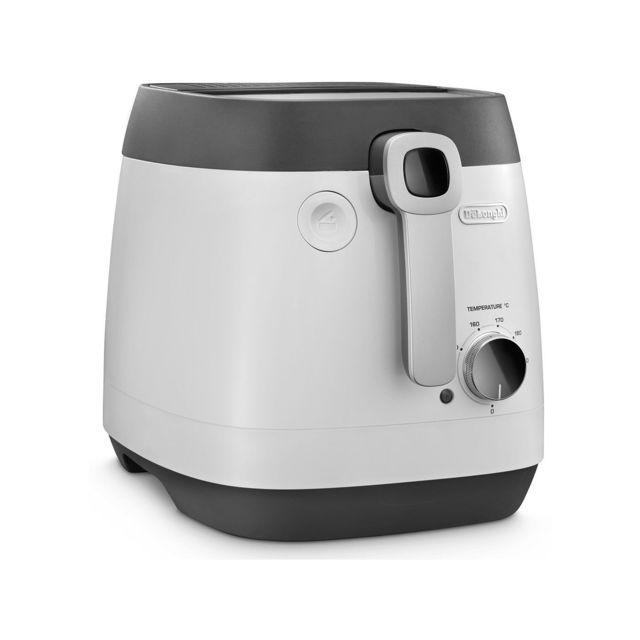 De'Longhi Friteuse électrique - FS8065 - Gris/Noir Capacité : 2 Kg - Contenance huile max : 3 litres - Cuve anti-adhérente amovible - Puissance : 1700 W - Thermostat adjustable de 150 à 190°C - Filtre anti-odeur remplaçable - Indicateur de niveau de chauf