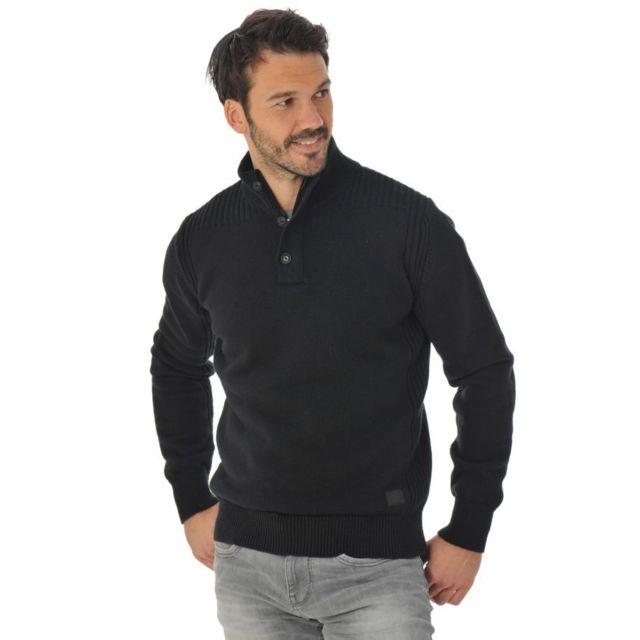 4fe0b56ac9a1 Schott - Pull Sweatshirt Plmilford9 black - pas cher Achat   Vente Pull  homme - RueDuCommerce