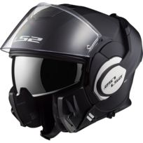 Ls2 - casque intégral modulable en jet Ff399 Valiant moto scooter noir mat