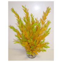 Labeo - Décoration Plante en Plastique Buisson - Jaune