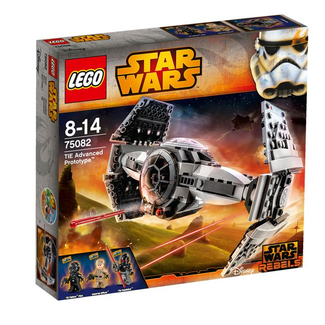 Lego STAR WARS - TIE Advanced Prototype - 75128 Fais régner la volonté de l'Empire aux commandes du prototype TIE LEGO Star Wars avec des ailes qui se replient, des canons à ressorts, un cockpit qui s'ouvre et encore plus de dé