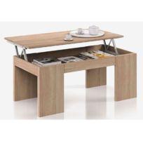 HABITAT ET JARDIN - Table basse Kendra - 100 x 50 x 43 cm - Chêne