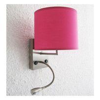 Home Sweet Home - Lampe applique avec liseuse Nuit d'Hôtel Rose