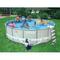 INTEX - Piscine tubulaire Ultra Frame ronde 4,88 x1,22 m