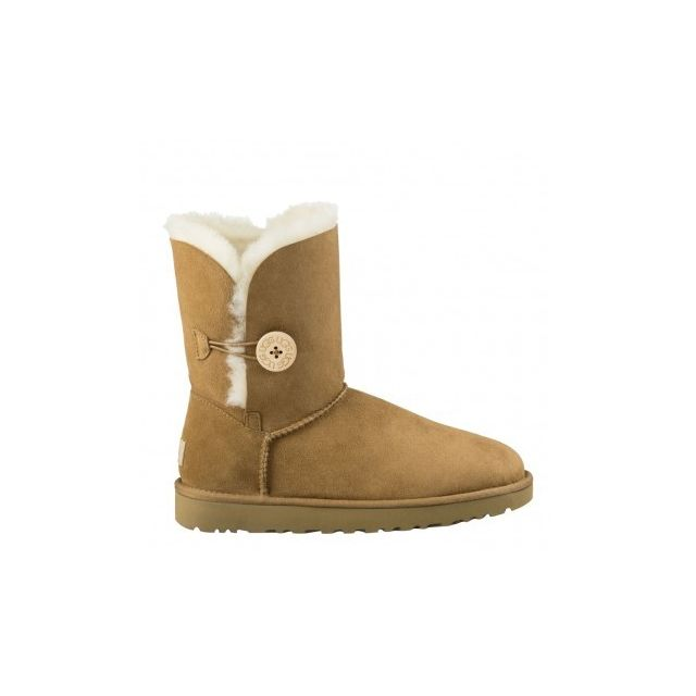 UGG AUSTRALIE BOTTINES Taille D 37 Marron Chaussures Femmes Bailey Button