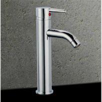 - Robinet mitigeur de lavabo design en laiton chrome mousseur metal