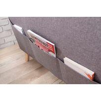 Canapé SCANDI - 6 places - Fixe - Angle Gauche - Gris Clair - 198cm x 87cm x 230cm