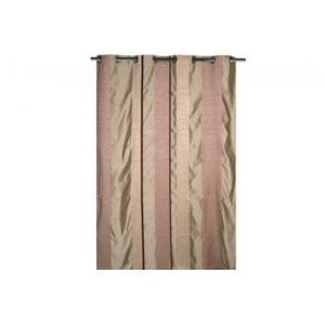 declikdeco ce rideau illets style jacquard prune apportera une petite touche d 39 l gance et. Black Bedroom Furniture Sets. Home Design Ideas
