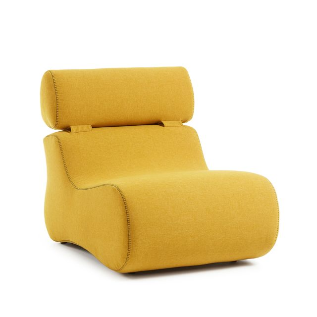 Kavehome Fauteuil Club, moutarde
