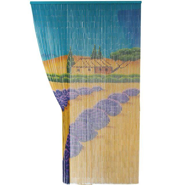 Provence Outillage Rideau en Bambou Motif Lavande 120 x 200 cm