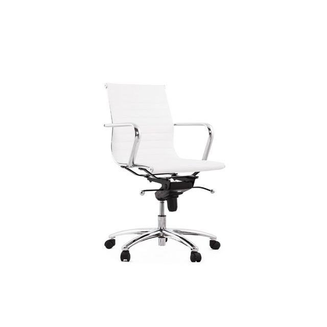 Fauteuil de bureau 68x68x101cm Micha - blanc