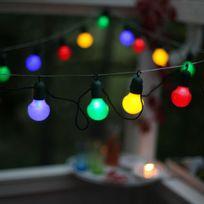 Best Season - Party Light - Guirlande d'extérieur Led 20 Lumières Multicolore à crochet L10,7m - Luminaire d'extérieur designé par