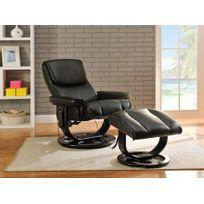 fauteuil cuir noir Achat fauteuil cuir noir pas cher Rue du merce