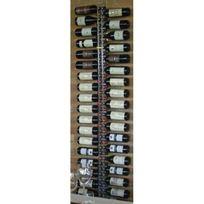Sobrio - Support mural en plexiglas transparent pour 38 bouteilles illumination Led optionnelle Plexiglas transparent Aci-sbr112