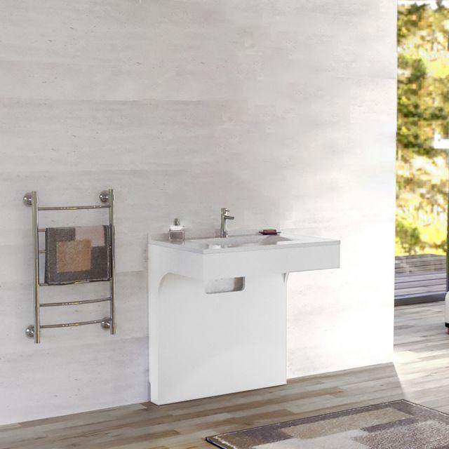 CREAZUR Caisson simple vasque PMR EPURE 90 - Blanc