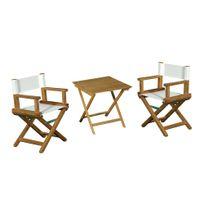 Zelie Gredine - Ensemble de 2 fauteuils metteur en scène de jardin enfant et d'une table basse Cinema